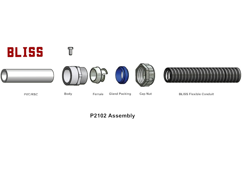 Flexible Metal Conduit, Flexible Metal Hose, Hose Connector, Conduit